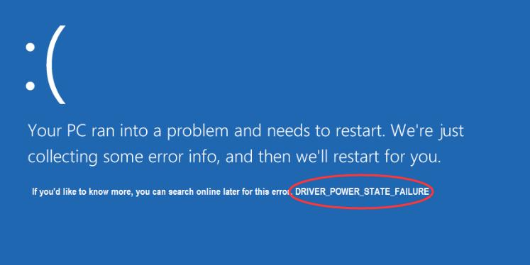 Driver Power State Failure