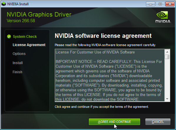 Nvidia graphics driver terms and conditions