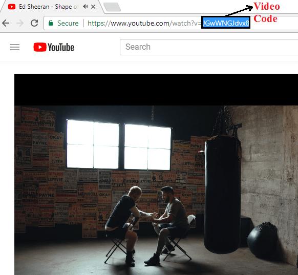 Changing youtube url