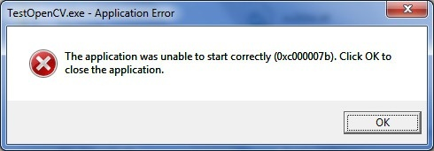 The application was unable to start (0xc000007b)