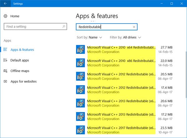 Microsoft-Visual-C-Redistributable