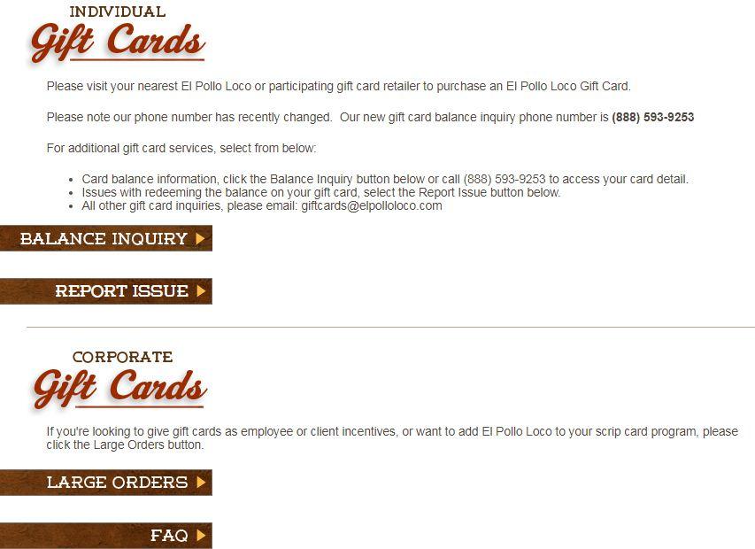 El pollo loco gift cards