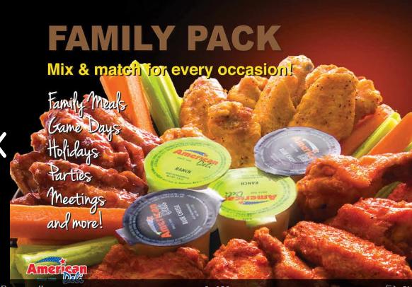 American deli restaurant family pack