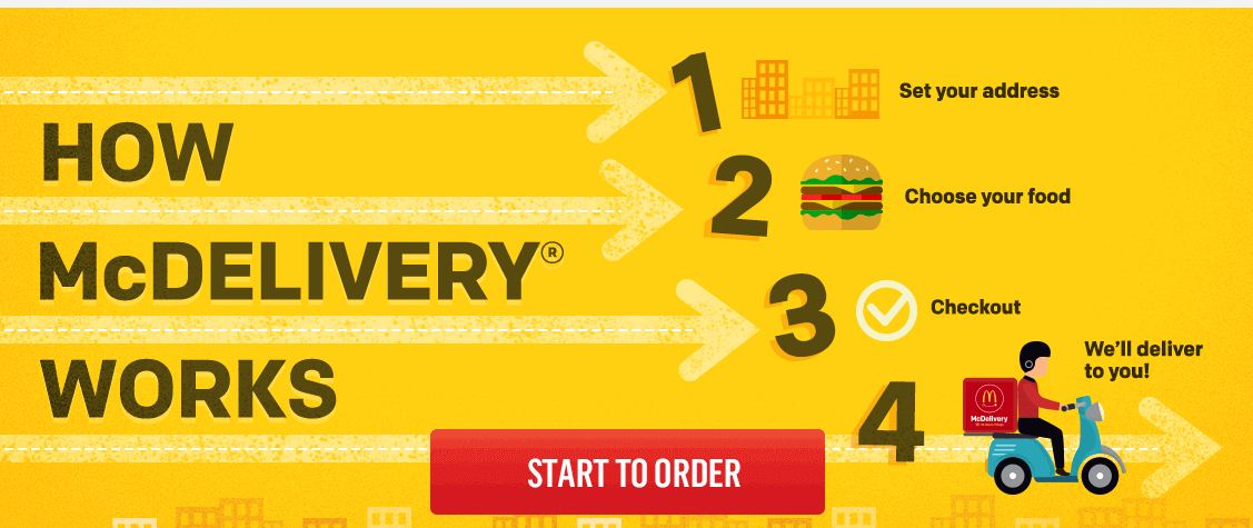 McDonald home delivery