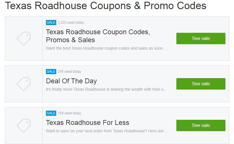 texas coupon & promos