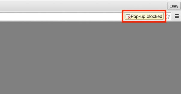 Disable Pop-up