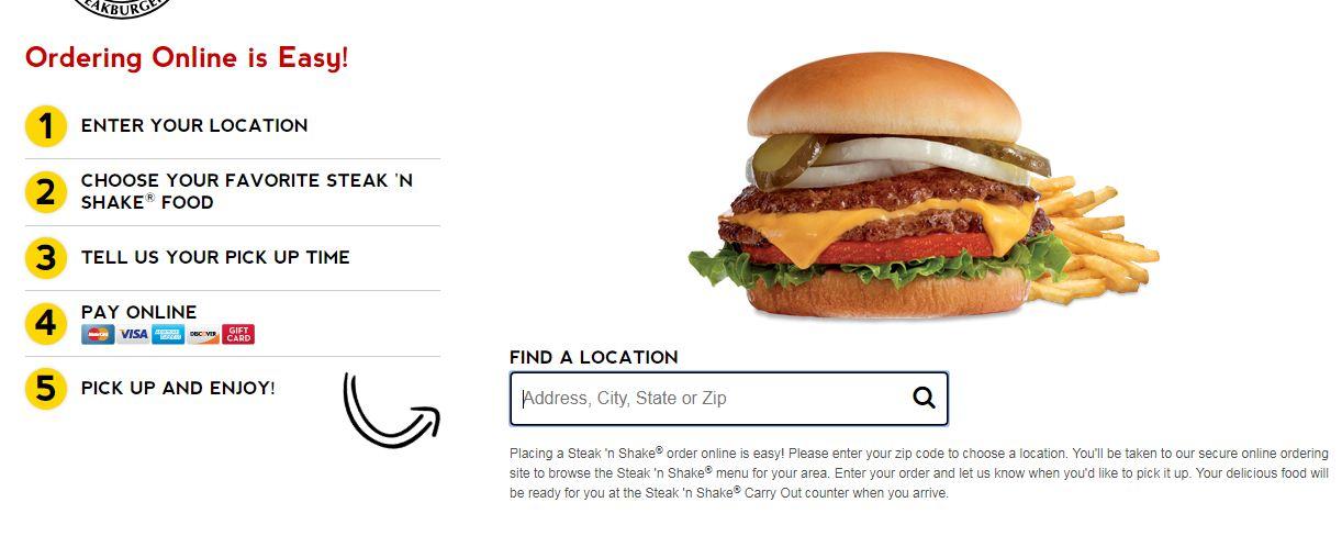 Steak & Shake Online Order