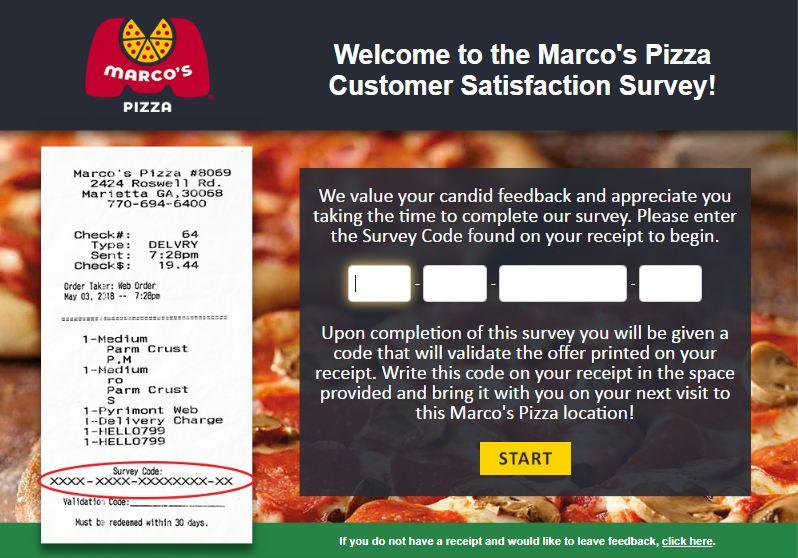 marcos pizza survey