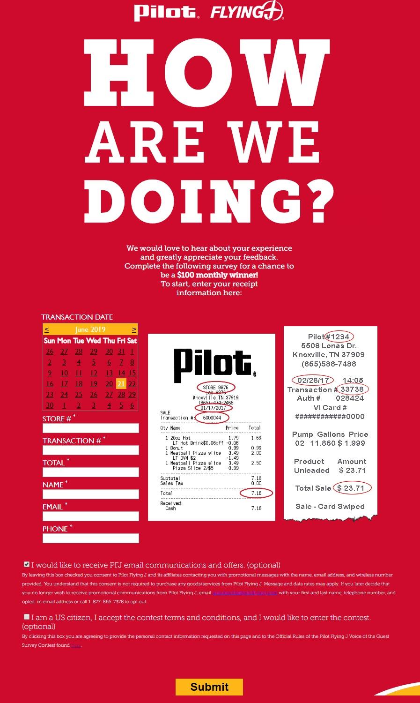Pitol flying j survey