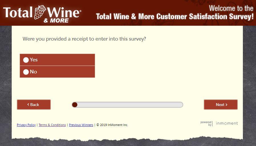 total wine survey