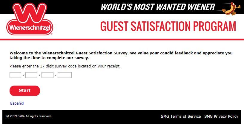wienerschnitzel survey