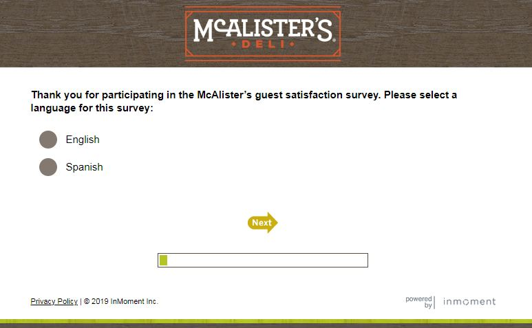McAlister's Survey
