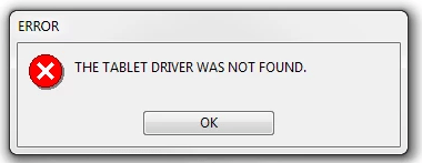 Wacom The tablet driver is not running