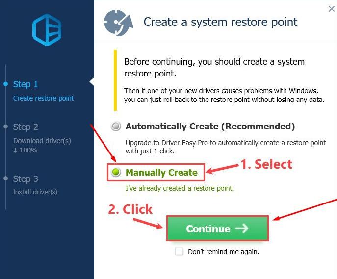 SelectManually create
