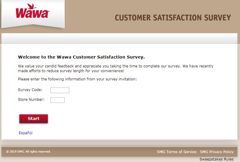 My Wawa Visit Customer Satisfaction Survey