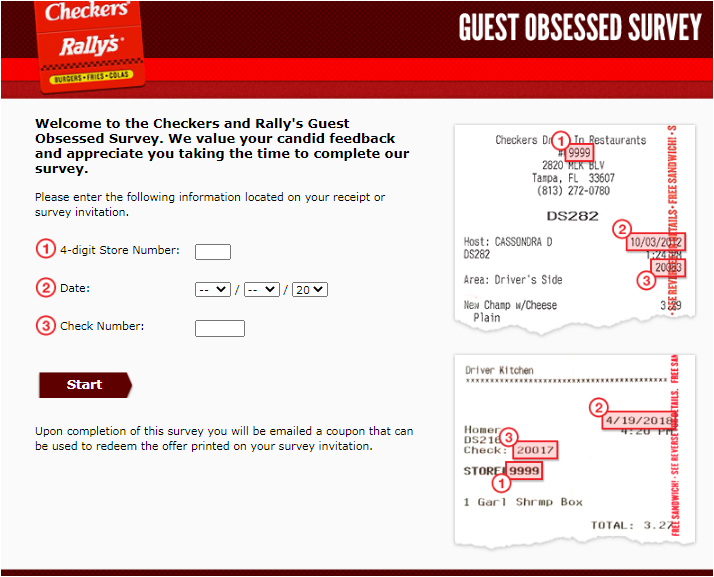 Checkers & Rally's Guest Experience Survey