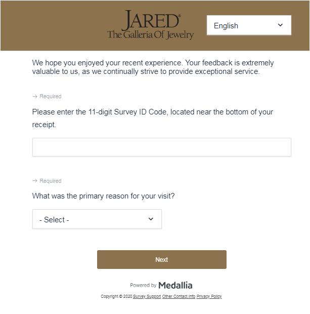 survey.jared.com Jared Customer Satisfaction Survey