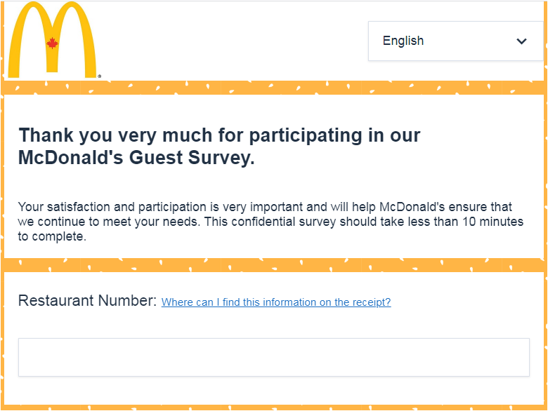 www.Mcdonalds-survey.ca Survey