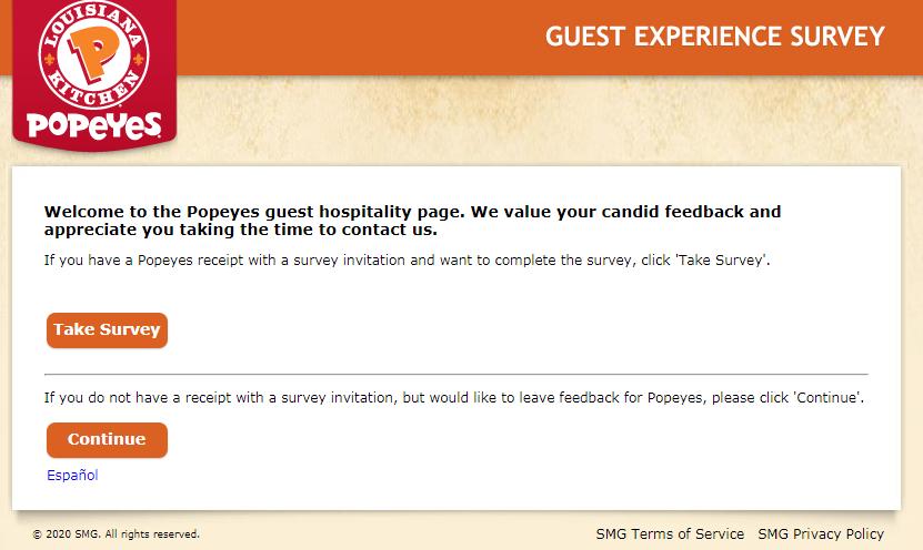 Tellpopeyes Customer Satisfaction Survey