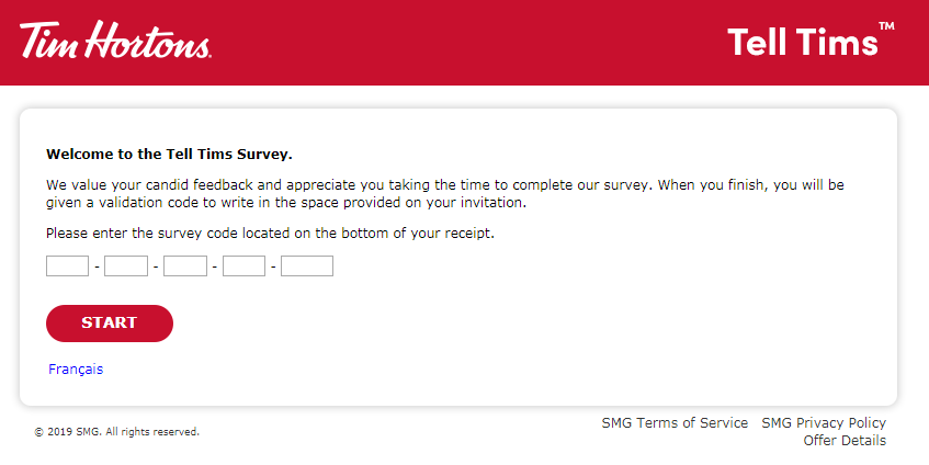 Tell Tims Guest Experience Survey