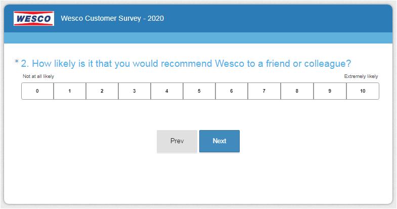 Go Wesco Listens Customer Feedback Survey