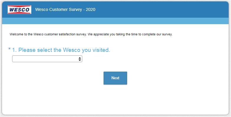 Wesco Guest Experience Survey 2020