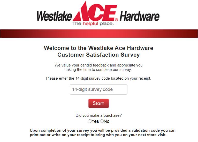 www.westlakesurvey.com Survey
