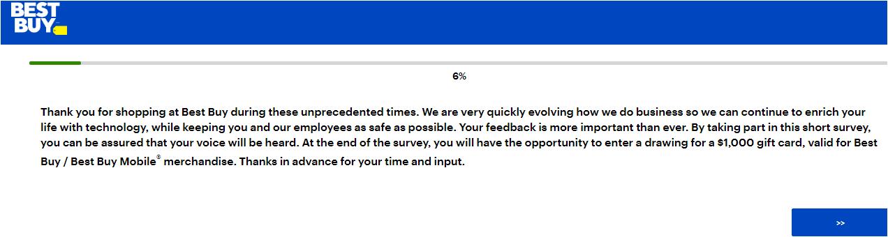 Best Buy Canada Customer Experience Survey