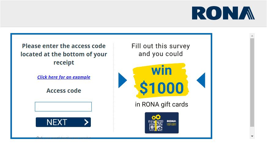 www.opinion.rona.ca Survey 2020
