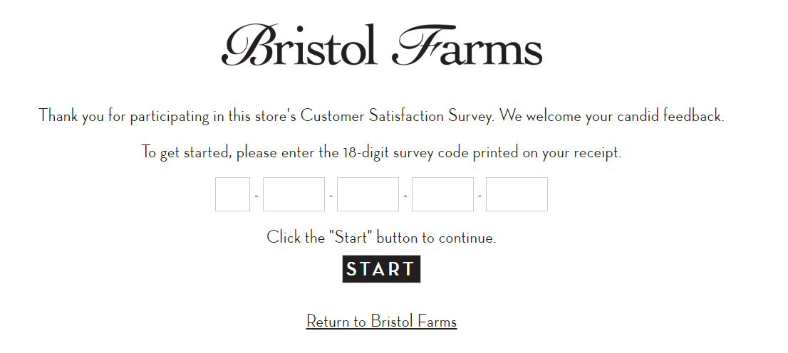 Bristol  Farms Guest Satisfaction Survey