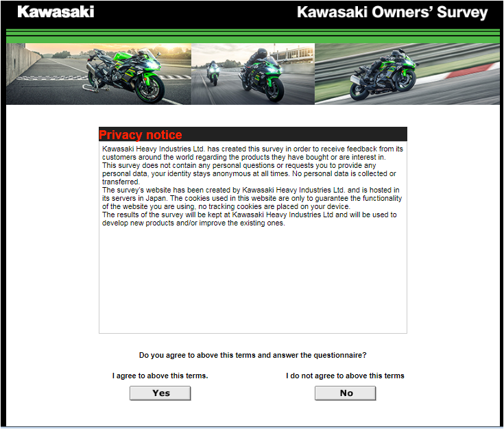 Kawasaki Owners Online Survey