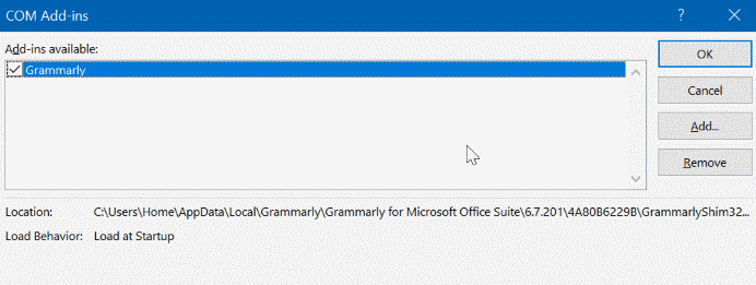 select Grammarly