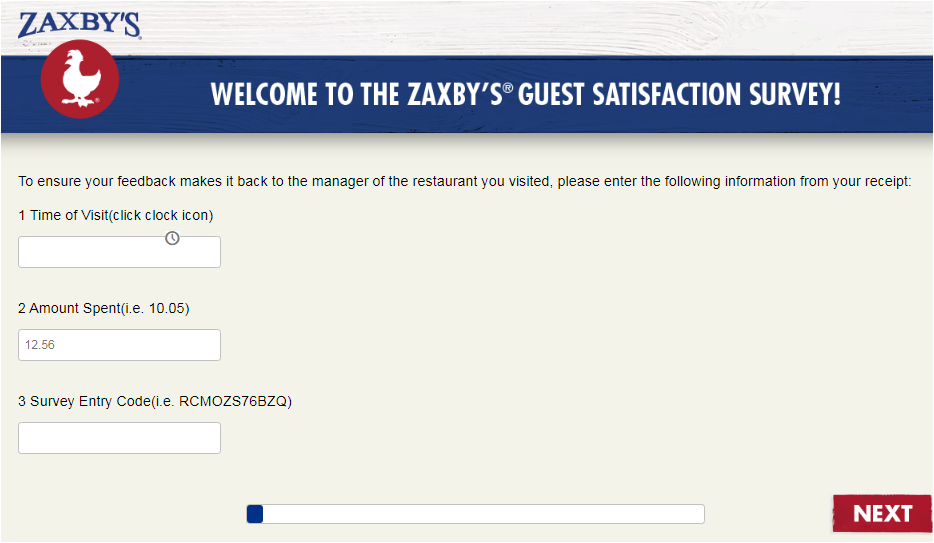 Zaxby's Customer Satisfaction Survey