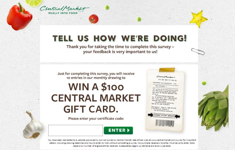 Central Market Customer Satisfaction Survey