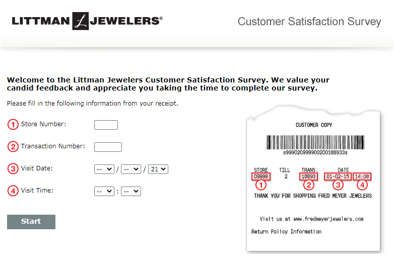 Littman Jewelers Customer Satisfaction Survey